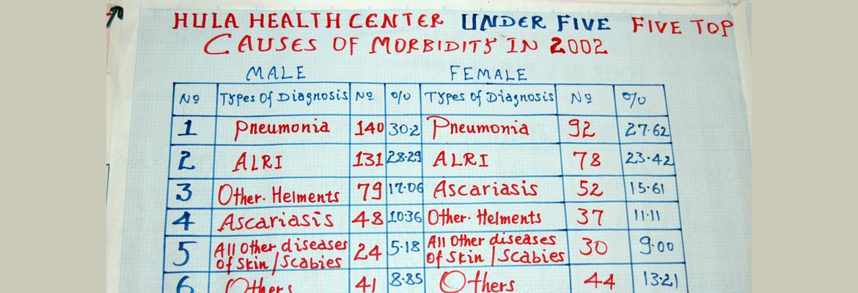 Top 5 doodsoorzaak in 2010 voor kinderen onder 5 jaar - Hagere Selam