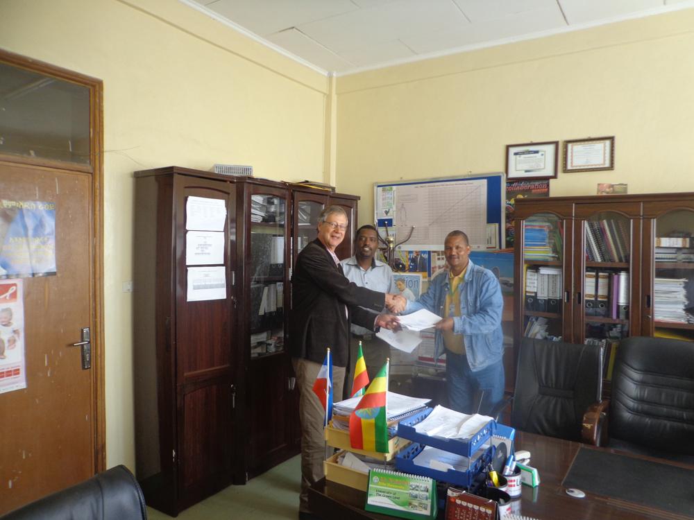sluiten samenwerkings-overeenkomst